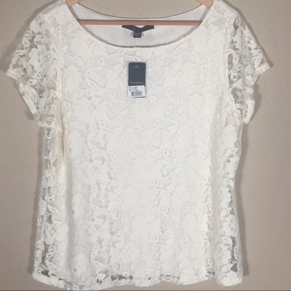 Fever Tops - Fever top lace cream XL